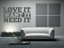 Love Wall Decal, Boutique Decor, Word Decals, Quote Wall Decal, Dorm Decor