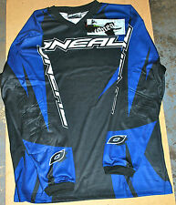 ONEAL ELEMENT BLACK BLUE MX MOTORCROSS ADULT SHIRT BUY ONE GET ONE FREE