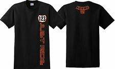 JUST RIDE CUSTOM NUMBER PLATE YOUTH T SHIRT CHILD MX MOTOCROSS YZF CRF KXF KTM