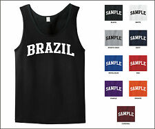 Country of Brazil College Letter Tank Top Jersey T-shirt