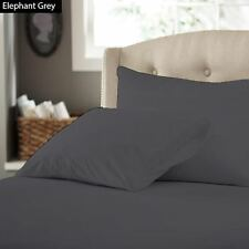 Dark Grey Solid Bedding 1PCs Fitted Sheet Pure Cotton...Choose Size & Extra Deep
