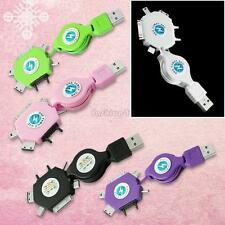 mini retractable usb charging cable cord connector for cellphone iphone htc mp3