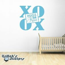 XO Hugs n Kisses OX Vinyl Wall Decal home decor love family nursery sticker L044