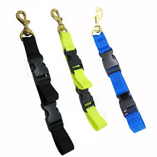 Scuba Diving BC Fin & Mask Keeper with Quick Release Loop Lanyard, Yellow/Black