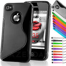 ULTRA THIN SILICONE GEL CASE COVER FOR IPHONE 4 4S 5 FREE SCREEN PROTECTOR