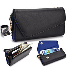 Kroo Fall Flip Designer PU Leather Smartphone Wrist-Let Cover Pouch Bag Guard BB