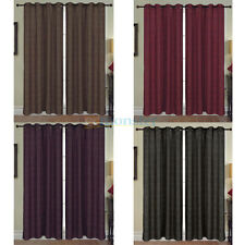 "2 PANELS 40""x 84"" LUXURIOUS JACQUARD GROMMETS CURTAINS WINDOW COVERINGS NEW"