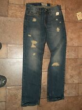 Aeropostale Mens Bowery DESTROYED PUNK Straight Jeans  27/28 28/30 29/30 30/30
