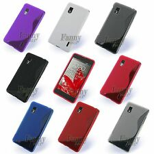 S-Line Rubber Gel TPU Silicone Skin Cover Case for LG Optimus G, F180, LS970