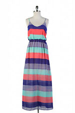 HEROES & DAMSELS DESIGNER DRESS Striped Maxi Beach, Casual, Resort, Semi-formal