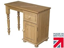 Solid Pine Single Pedestal Dressing Table, Handcrafted Chelmarsh Collection