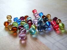 Glass Beads Round Druk Smooth Czech Glass 6 mm Choice of Color 20 Beads
