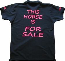 This Horse is for Sale equestrian polo shirt