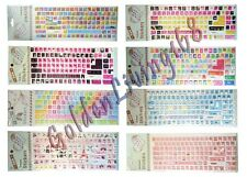 Desktop Laptop Computer Keyboard Stickers / Decals Cover Protector Large Letters