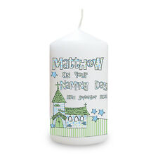 Personalised Christening Naming Day Baptism Gift  Baby Boy Girl Candle Present