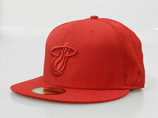 New Era Men's Fitted Hat 59FIFTY NBA Hardwood Classic Miami Heat Red