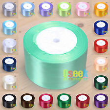 "1 Roll 25 Yards 2""(50mm) Satin Ribbon Bow Wedding Supply Craft Sewing Decoration"