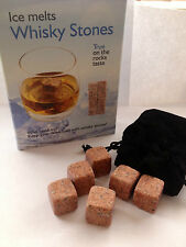 UK Whisky Stones/ Rocks Granite / Inc 9 Stones Boxed & Pouch (Come in 4 Colours)