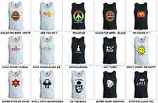 COOL FUNNY DJ SEXY PRINTED TOP TANK / SINGLET HIGH QUALITY COTTON FREE SHIPPING