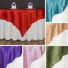 """36 x SATIN SQUARE 60x60"""" Table OVERLAYS Wholesale HUGE LOT Wedding Party Supply"""