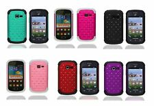 Samsung Centura Galaxy Discover Hybrid Bling Rhinestone Cell Phone Case Cover