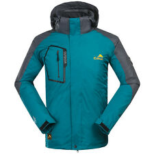Mens 3in1 Outdoor Jacket Hooded Soft Shell Waterproof Fishing Camping Clothes