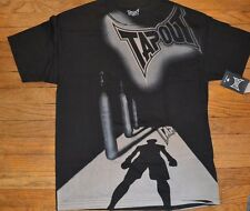 "Tapout ""TRAINING DAY"" Back - ""DRIVEN TO WIN"" 2-Sided T-Shirt MMA Fight Club HTF"