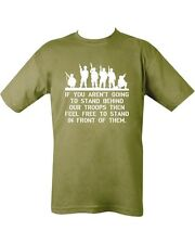 Support Our Troops T - Shirt , British Military 100% Cotton - Green (  Commando