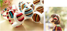 Cute Colorful Stripe Earmuffs Warmer Earlap Muffs Headband Winter