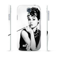 Audrey Hepburn on White - Hard Cover Case for iPhone, Samsung, 65+ other phones