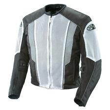 Joe Rocket Phoenix 5.0 Mesh Motorcycle Riding Jacket White Black Waterproof Line