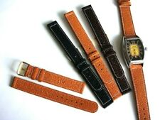 16 18 20mm XL Black Tan Genuine Pigskin Vintage 1940s watch band strap IW SUISSE