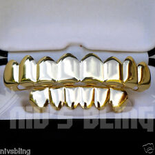 14k Gold Custom 8 Tooth Top Bottom GRILLZ Bling Mouth Teeth Caps HipHop Grill 1G