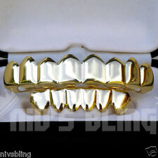 14k Gold Custom 8 Tooth Top Bottom GRILLZ Bling Mouth Teeth Caps Hip Hop Grill