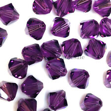 8mm Amethyst (204) Genuine Swarovski crystal 5328 / 5301 Loose Bicone Beads