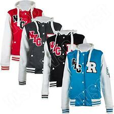 New Womens R-NYC Varsity College baseball jacket Hoodie Hooded Size M L XL 8-14