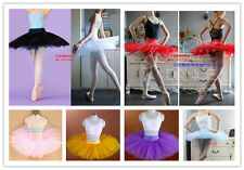 New Adult Professional Ballet Tutu Hard Organdy Platter Skirt Dance Dress 8color