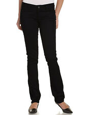 DICKIES GIRL BLACK SKINNY STETCH PANTS JUNIOR 5 POCKET BOTTOM  LEG SIZES 0 to 15