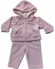 Harley Davidson Infant Baby  Girls 2 pc Velour Warm Up Suit Apparel Outfit Set