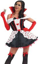 Sexy Queen of Hearts costumes XS,S,M,L,XLXXL Womens Ladies Halloween Fancy Dress