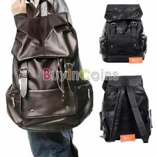 Mature Leather Backpack School Bag Travelling Bags All-Match PU Men Women
