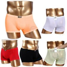 JQK Sexy Soft Mens Sheer See Through Brief Boxer Men Underwear with many color