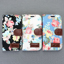 Hot Leather For Samsung Galaxy SIII S3 I9300 Flower Wallet Stand Soft Case Cover
