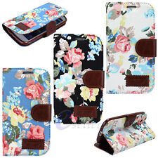Cute Flip Leather Flower Wallet Skin Case Cover For Samsung Galaxy SIII S3 I9300