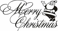 Merry Christmas wall art / window sticker decal inside or outside decoration