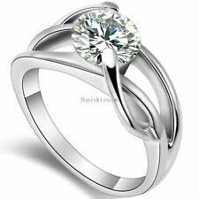 New 2.0 Ct Cubic Zirconia Infinity Knot Ring for Eternity Engagement Wedding