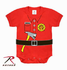 Firefighter Fireman Uniform One Piece Baby Infant Short Sleeve Onesie Rothco