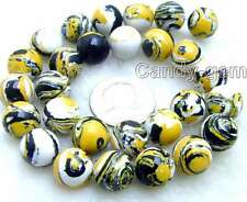 "SALE Big 14mm Yellow Multicolor Round agate beads strands 15"" -los581"