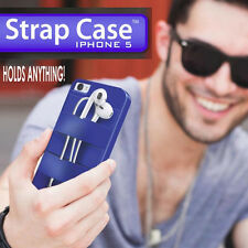 Triple C Design Strap Case iPhone 5 5s Silicone Phone Cover Headphone Card Hold
