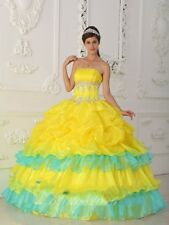New Strapless Quinceanera Dress Ball Gown Prom Pageant Dress Size Custom